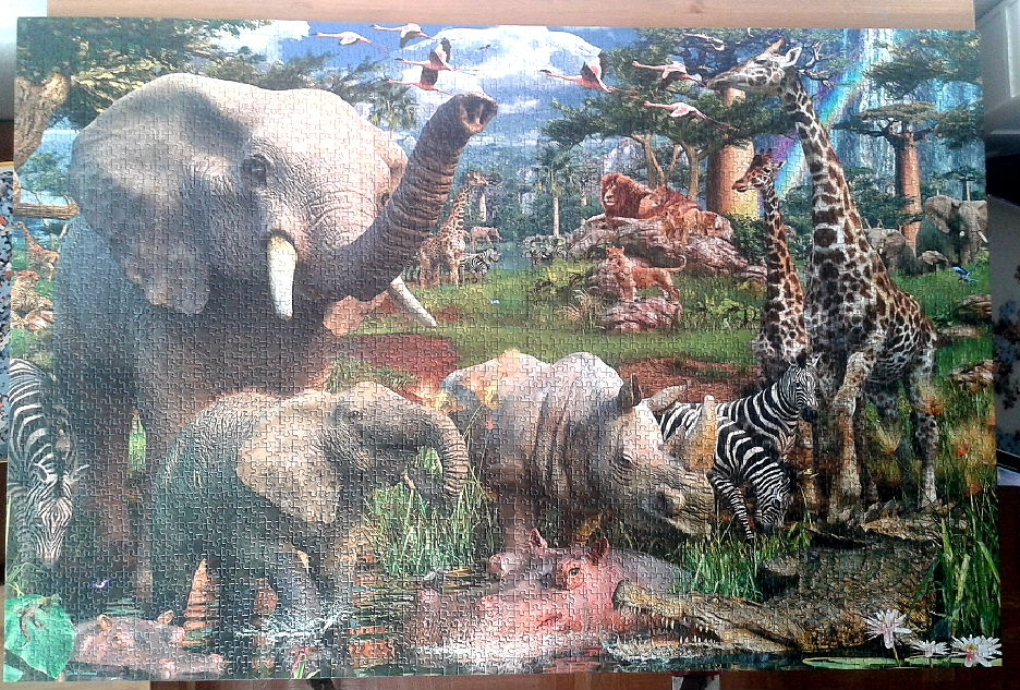 Animals at the Waterhole by David Penfound ( 2016 ) 3168 Pieces ( Ravensburger Puzzle )