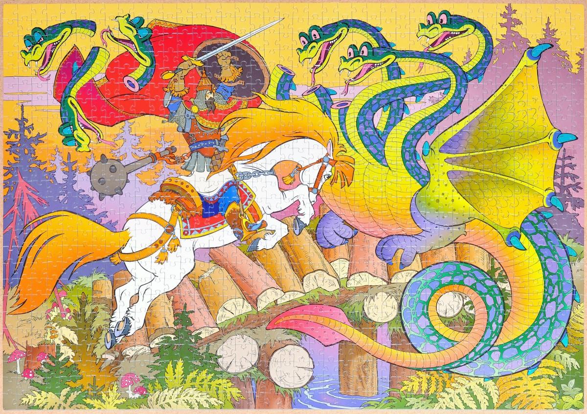 Step-Puzzle - Eine Sage über einen Krieger Namens Dobrynja Nikititsch und den Drachen Gorinitsch, 1000