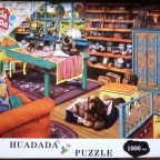 Window Cat, 1000 Teile, Huadada