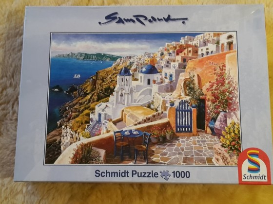 Sam Park: Blick von Santorini - 1000
