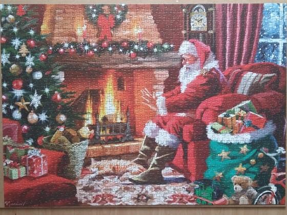 Santa by the Fire 1000 Pieces ( Falcon de luxe )