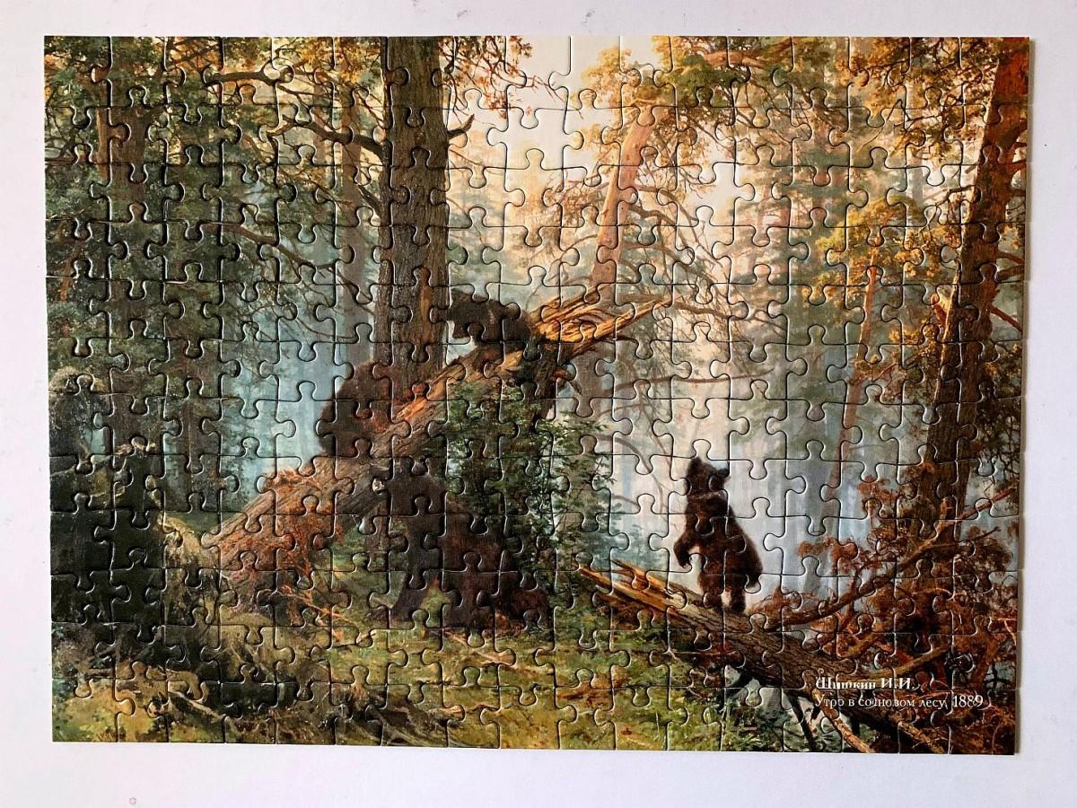 Morgen im Föhrenwald_Puzzle