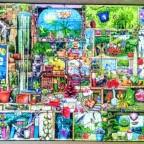 Kurioses Gartenregal von Colin Thompson-Ravensburger-1000 Teile