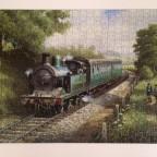 Dampflokomotive - MB Puzzle 500 Teile
