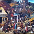 Grafika : Art Collection 1000 Teile : Pieter Brueghel d. Ältere :Die niederländischen Sprichwörter