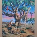 African Wildlife by Corbert Gauthier 1008 Pieces ( Clementoni )