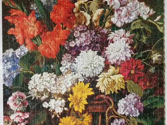 Großer Blumenkorb
