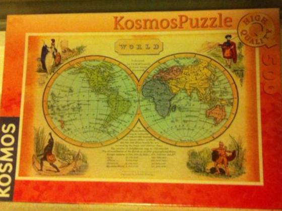 Kosmos, Weltkarte, 500 Teile