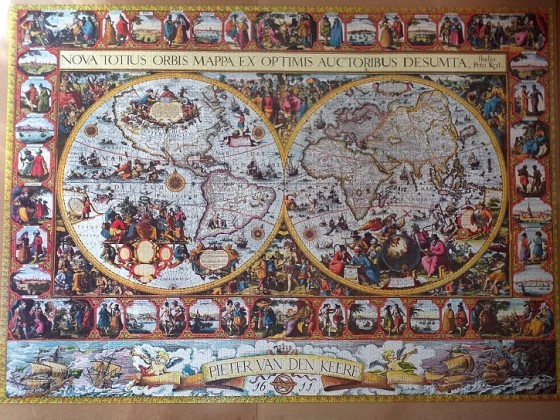 Big World Map by Pieter van den Keere 1611. 9120 Pieces  mixed  ( Ravensburger Puzzle )