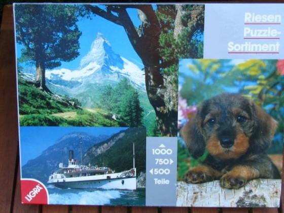 Riesen Puzzle-Sortiment 500 / 750 / 1000 LIGRA1988Nr.2810Breit / Hoch / BreitBestand Nr. 007