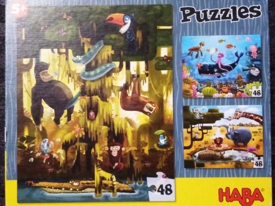 HABA Tierpuzzle, HABA, 3 x 48 Teile