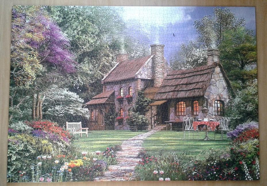 Flint Cottage by Dominic Davison ( 2011 ) 3000 Pieces ( Educa Puzzle )