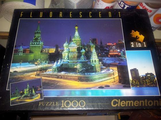 Clementoni - Moskau und Manhatten Ne York - je 1000