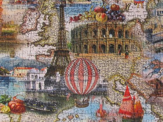 Ballonfahrt durch Europa - Puzzle von Ghost an Silvie