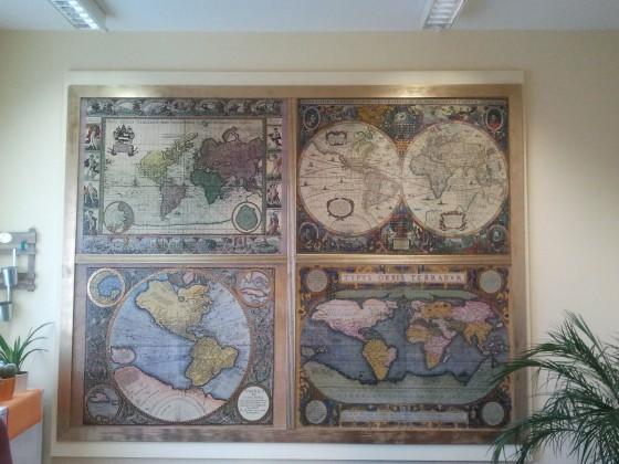 4 Weltkarten, Weltbild, 20.000 Teile