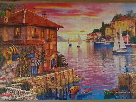 The Mediterranean Harbour by Dominic Davison 5000 Pieces ( Educa Puzzle )
