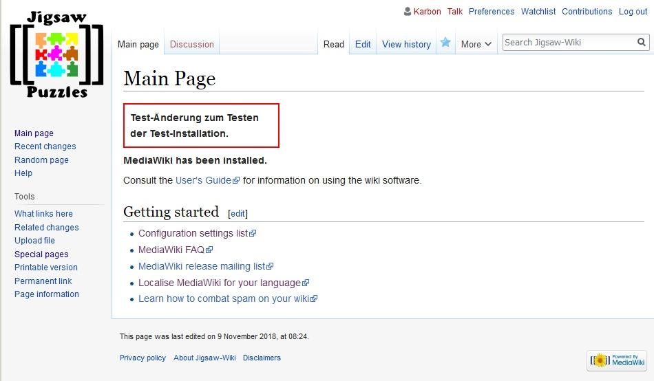 Wiki Umzug Und Upgrade Puzzle Wiki Puzzlefreunde